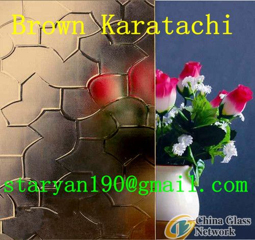 3mm-6mm Brown Pattern Glass