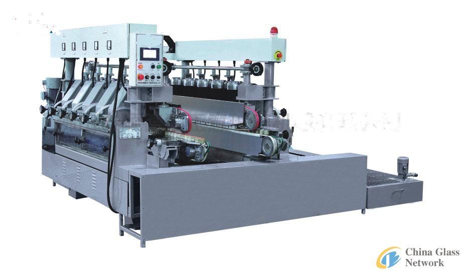 Eight bilateral round edge glass grinding machine