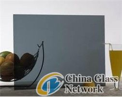 Dark Grey Reflective Glass