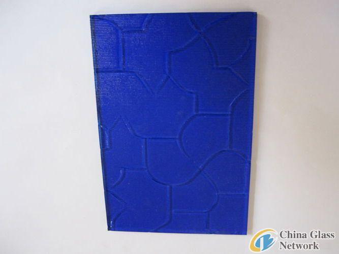 blue karatachi patten glass