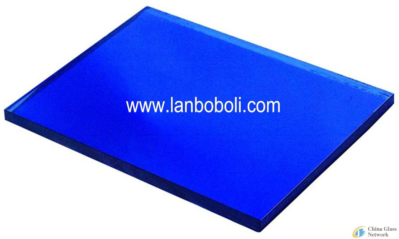 8mm Dark Blue Coated Glass