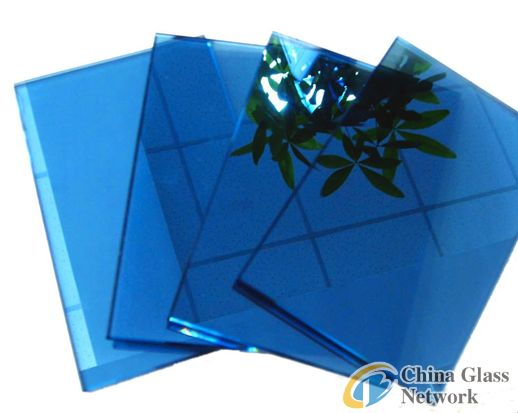 6mm dark blue reflective glass