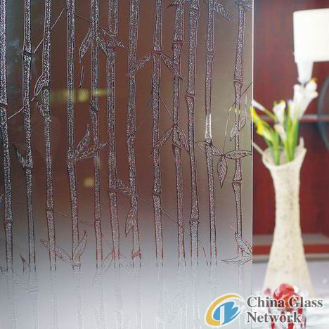 Bamboo deep acid etched glass
