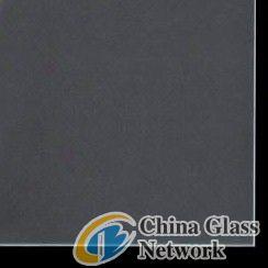 Dim acid etched glass
