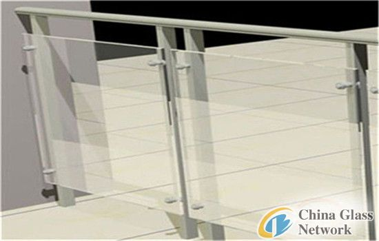 China factory 8mm balustraderailing tempered / toughened glass