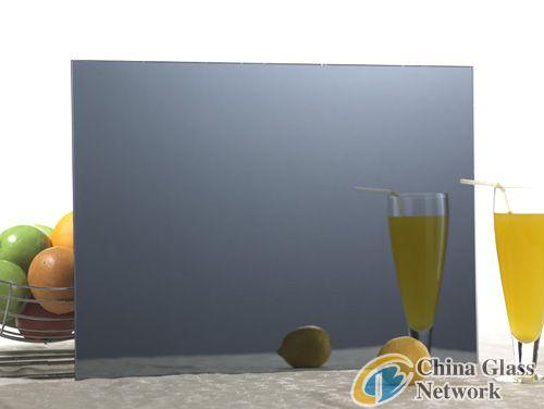 gray glass mirror