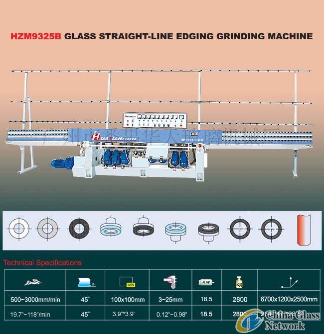 HZM9325B Glass Straight-Line Edging Machine