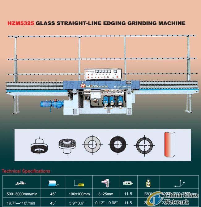 HZM5325 Glass Straight-Line Edging Machine