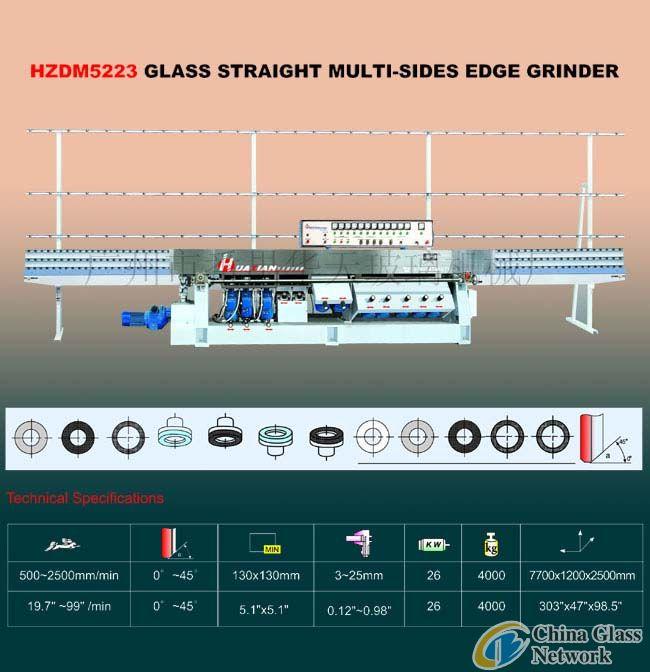 HZDM5223 Glass Straight Multi-Sides Edge Grinder