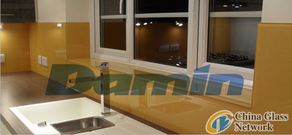2mm-12mm Painted Glass with Yellowish Brown Color