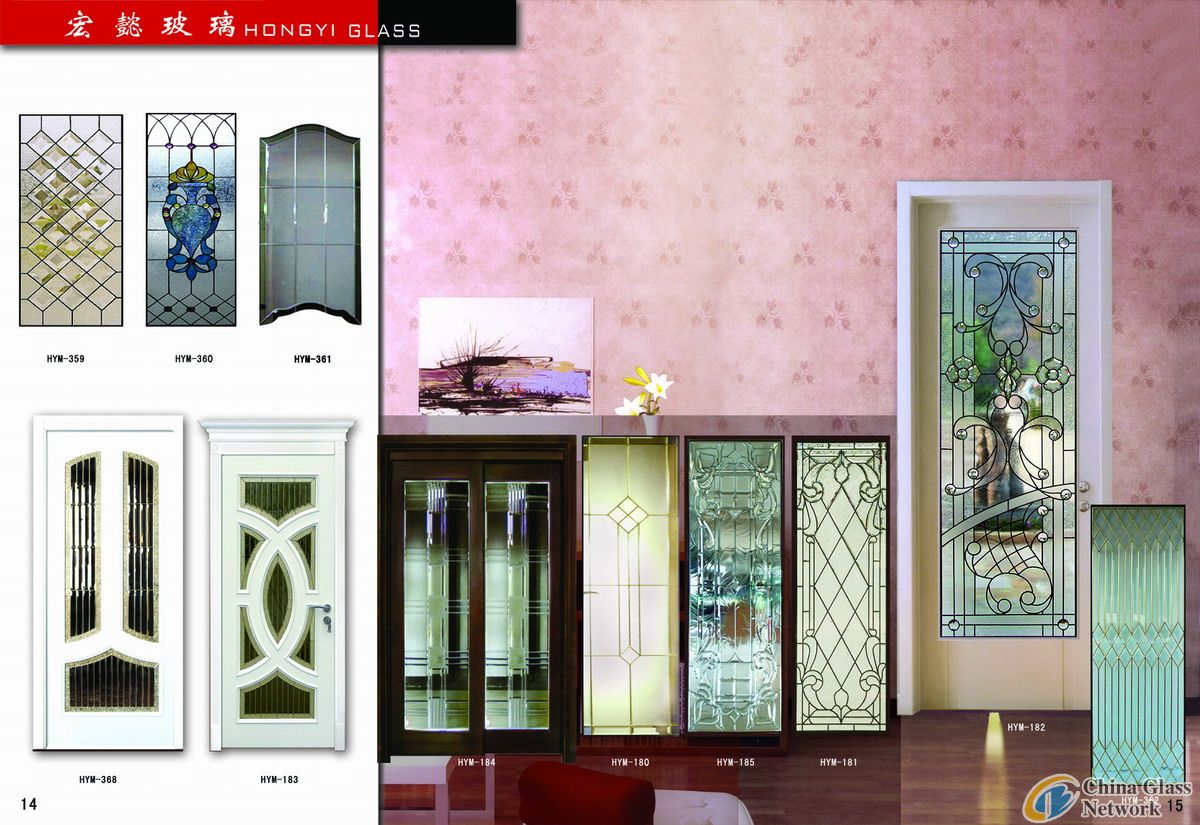 leaded glass panel for decoration
