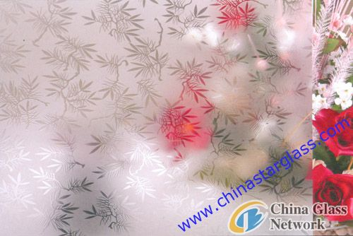 4mm Clear Acid Etched Patterned Glass