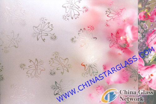 4mm Acid Etched Clear Patterned Glass