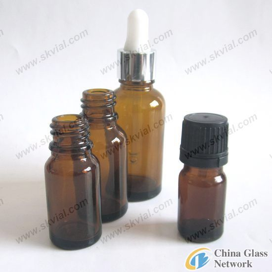 China Amber Glass Bottles for Pharmaceutical and Cosmetic Use