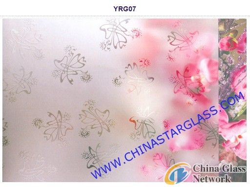 4mm Auto Grade Clear Acid Etched Patterned Glass