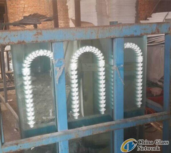 2mm Clear Silk Screen Decorative Mirror Glass