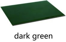Back painted glass - dark green