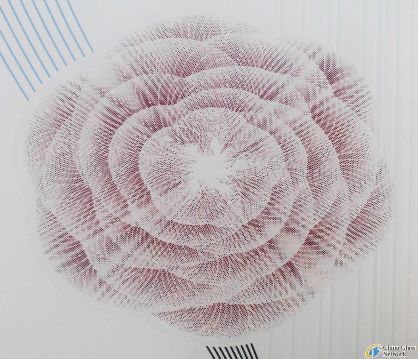 Flowery silk-printing  glass