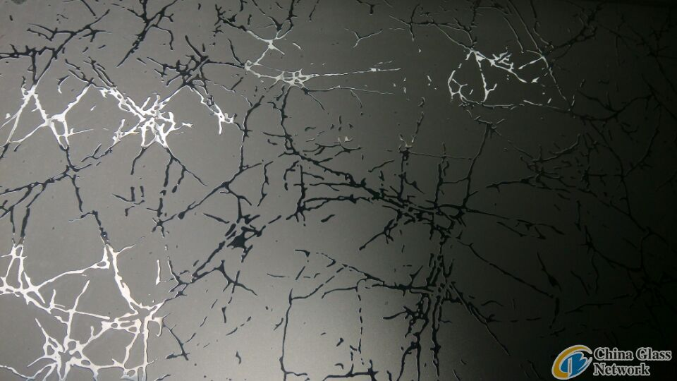 Branch acid etched glass