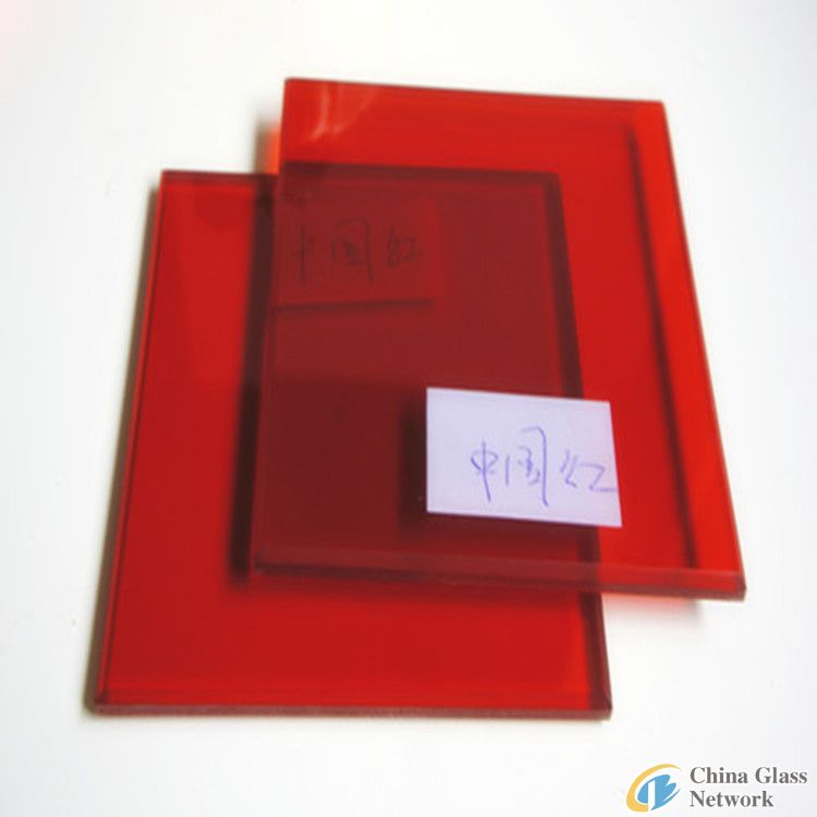 5mm red Laminated glass