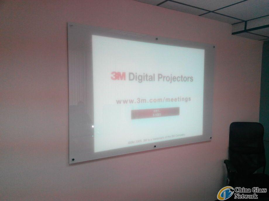 projector walls glass