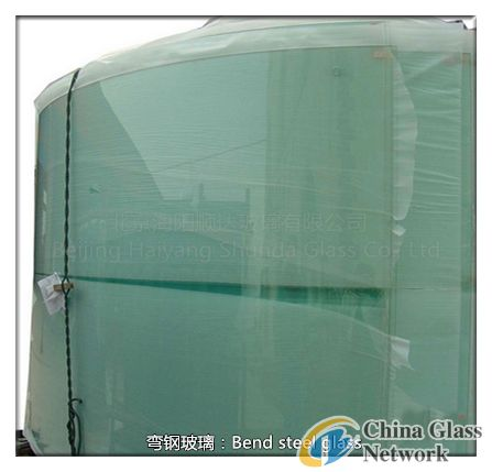 Curved glass steel products