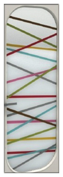 High End Architectural Art Glass:Colorful stripe
