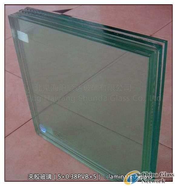 10.38mm laminated Glass