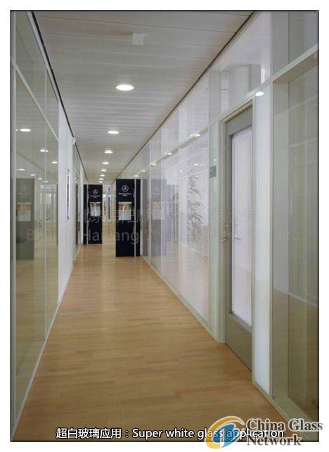 Super white glass application