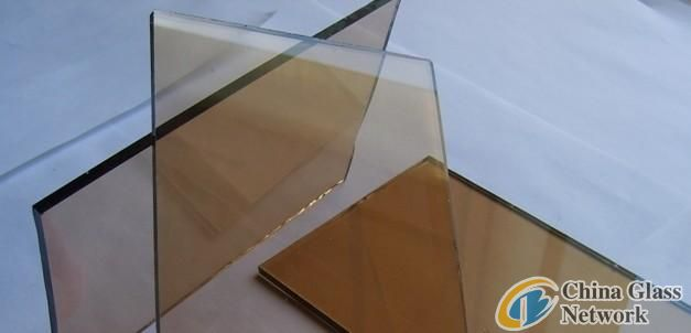 Red bronze float glass
