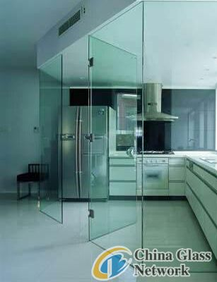 Laminated glass door