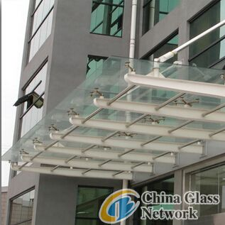 Laminated glass roof