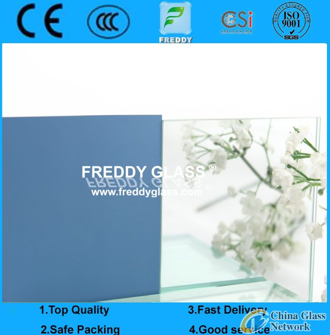 2-6mm silver mirror/bathroom mirror/water-proof mirror/decorative mirror with blue back/green back/g