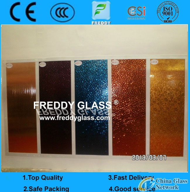 colored watercube patterned mirror/color pattern mirror/tinted rolled mirror/tinted figured mirror/c