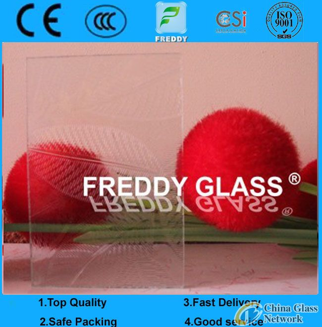 clear hibiscus pattern glass/clear patterned glass/clear rolled glass/clear figured glass