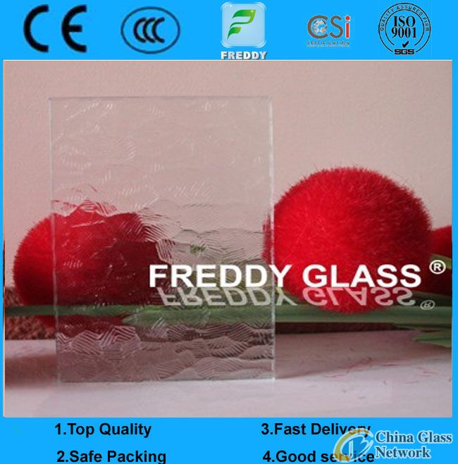 clear oceanic patterned glass/clear ripple patterned glass/clear oceanic rolled glas/clear ripple fi