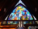 stained glass panel for decoration of house, office, hotel, bathroom and wall