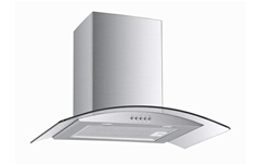 range hood glass