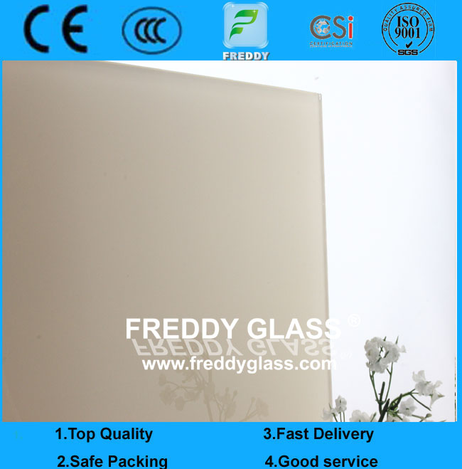 3mm-10mm CE & ISOUltra Clear Ivory Paint Glass