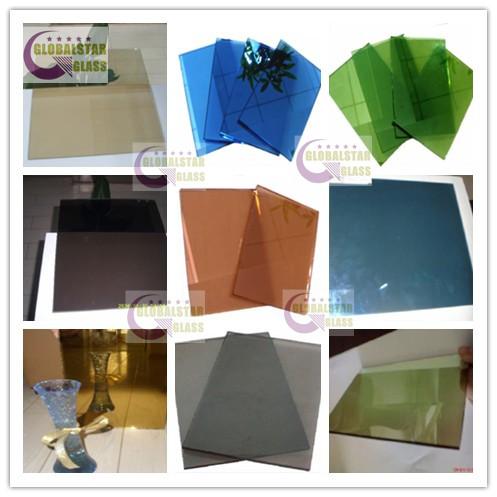 4-6mm dark blue,dark green,bronze,grey,ford blue,light green,pink,clear golden reflective glass