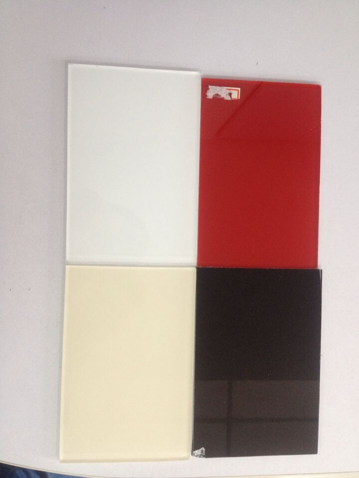 Painted Glass with differnet color Ral9001; 9003