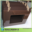 flat range hood glass with brown color