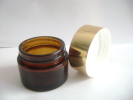 Supply Amber Glass Cosmetic Jar With Lid