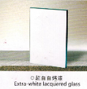 Extra-white lacquered glass