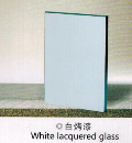 White lacquered glass