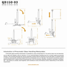 Pneumatic Glass Handling Manipulator QD150-03