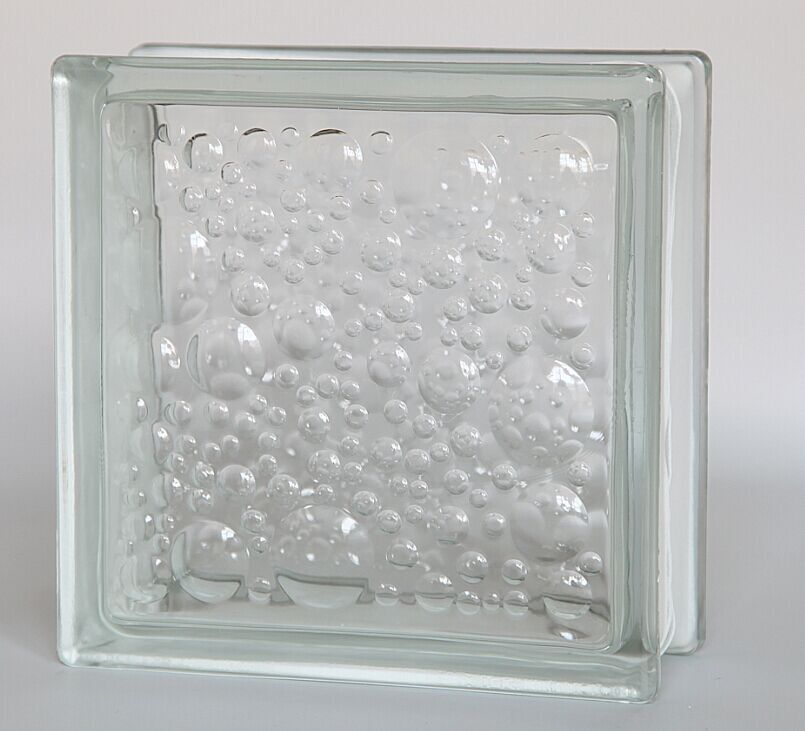 Water bubble glass block