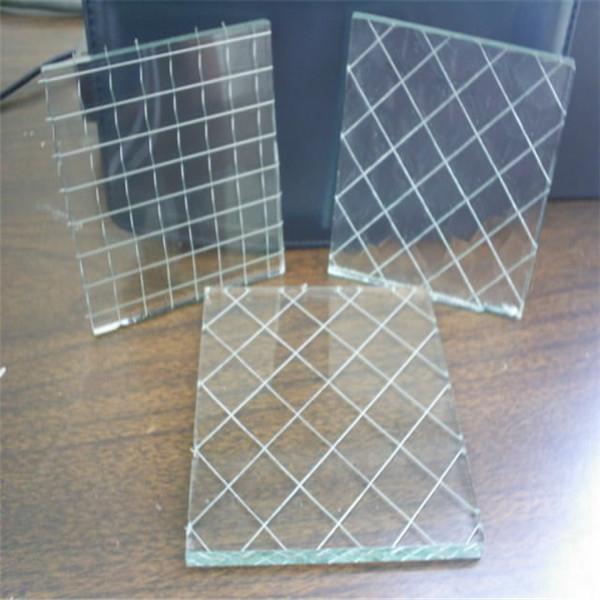 6mm wire pattern glass