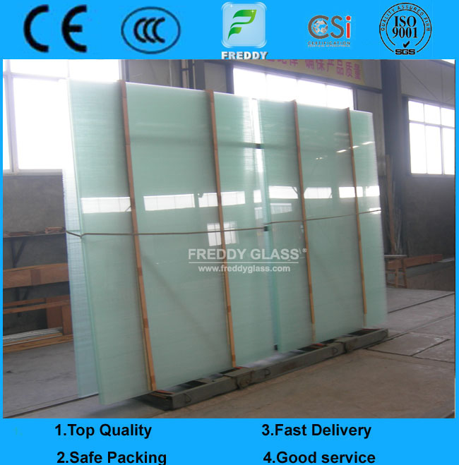 8.38mm White Laminated glass/Colored Toughened Bulletproof Laminated Glass
