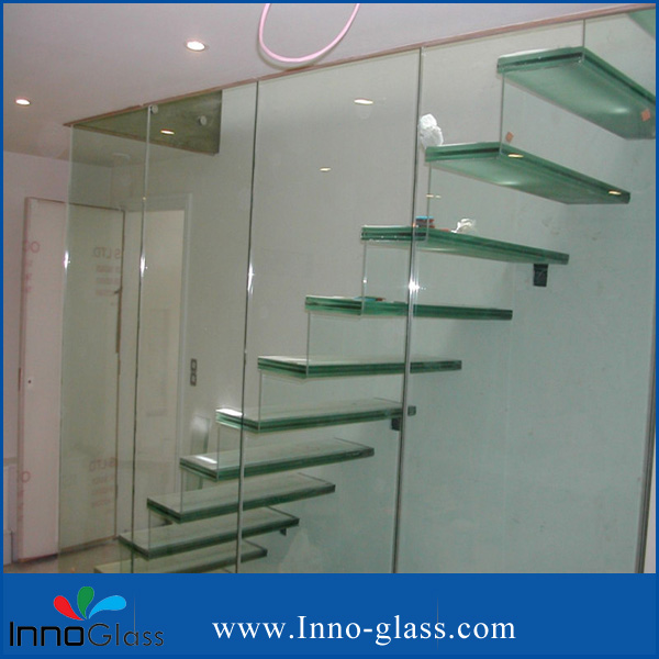 6+0.38PVB+6mm Clear Laminated Glass for Stairs  with CCC/ISO/CE